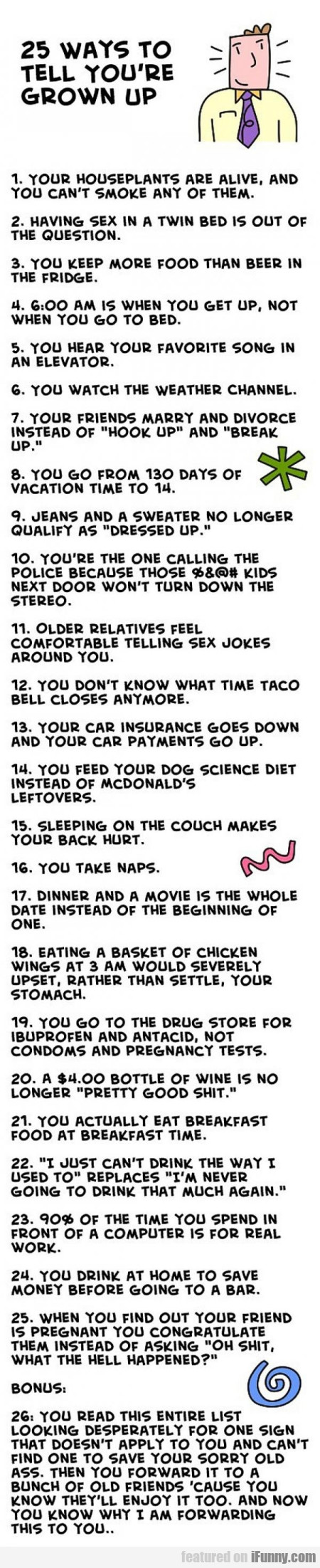 25 Ways To Tell You're