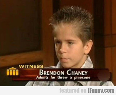 Brendon Chaney, Admits He Threw A Pinecone...