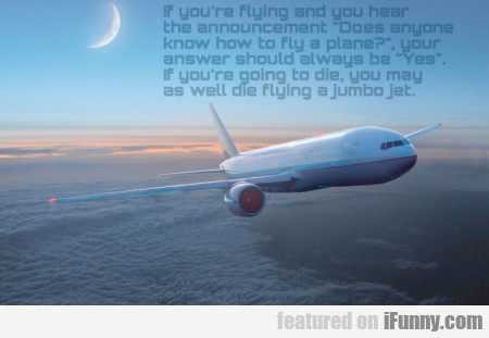 If You're Flying And You Hear.
