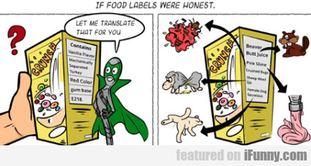 if food labels.