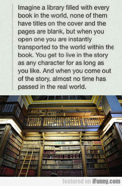 Imagine A Library Filled With...