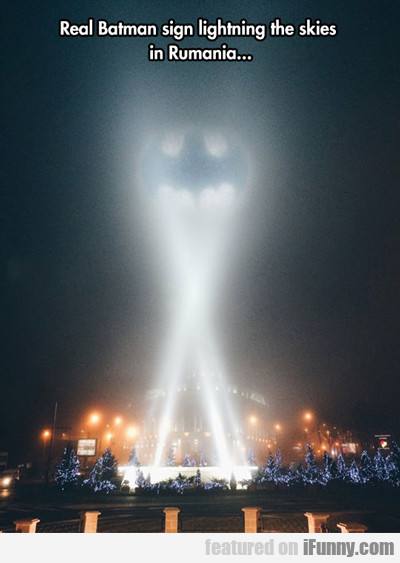 real batman sign...