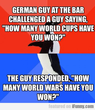 German Guy At The Bar...