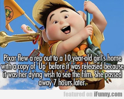 pixar flew a rep out...