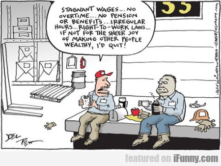 Stagnant Wages... No Overtime..no Pension...