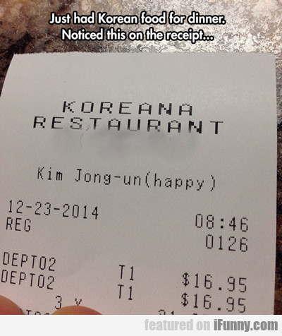 Just Had Korean Food For Dinner...