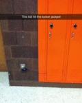This Kid Hit The Locker Jackpot...