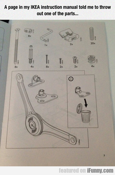 A Page In My Ikea Instruction Manual...