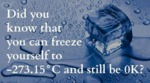 Did You Know That You Can Freeze Yourself...