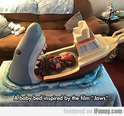 A Baby Bed Inspired By The Film Jaws...