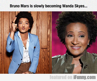 Bruno Mars Is Slowly Becoming Wanda Sykes...