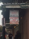 In New Orleans These Signs Are Necessary...