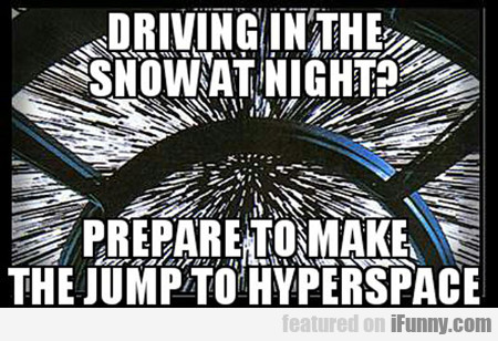 Driving In The Snow At Night...