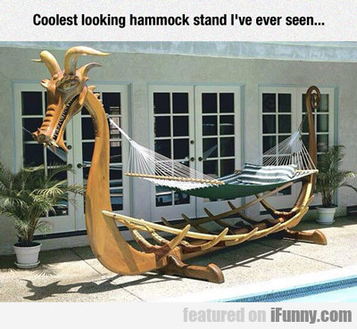 Coolest Looking Hammock Stand I've Ever Seen...
