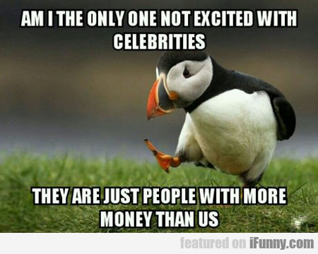 Am I The Only One Not Excited With Celebrities?