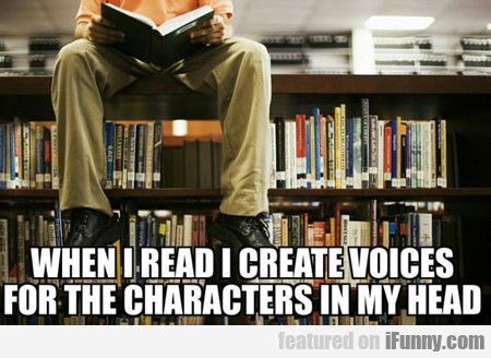 When I Read I Create Voices...
