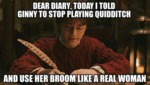Dear Diary, Today I Told Ginny...