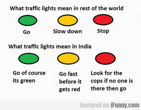 What Traffic Lights Mean In Rest Of The World...