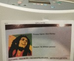 Printer's Name: Bob Marley...