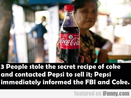 3 People Stole The Secret Recipe Of Coke...