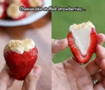 Cheesecake Stuffed Strawberries...