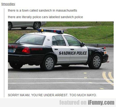 There Is A Town Called Sandwich In...