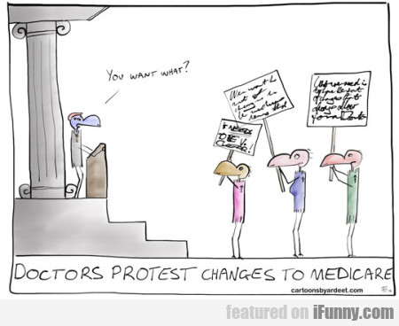 Doctors Protest Changes To Medicare
