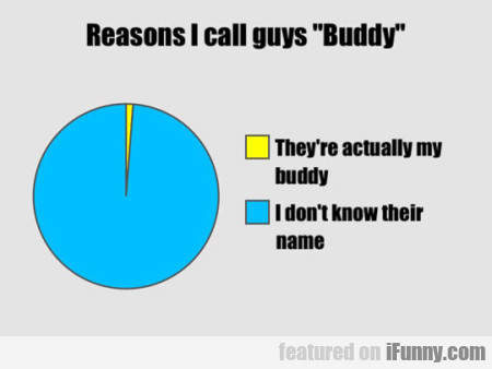 Reasons I Call Guys Buddy...