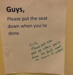 Guys, Please Put The Seat Down...