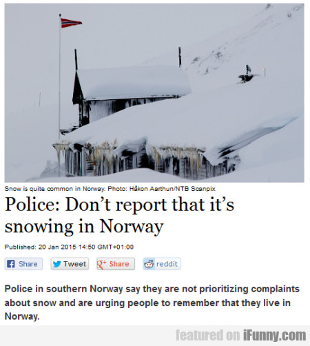 Police Don;'t Report That It's
