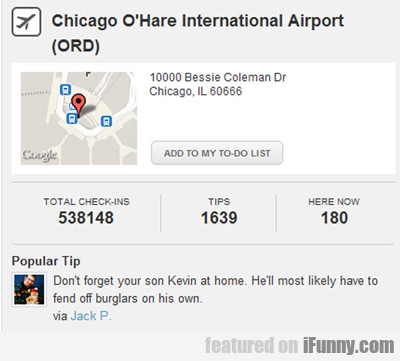 Chicago O'hare International Airport...