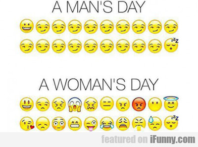 A Man's Day Vs A Woman's Day...