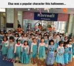Elsa Was A Popular Character This Halloween...