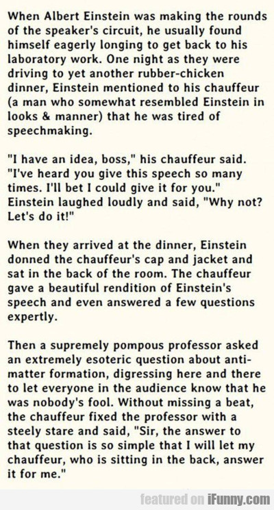 When Albert Einstein Was Making The Rounds.
