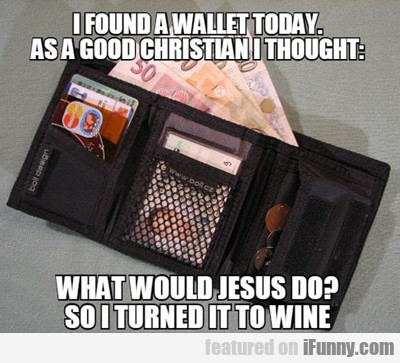 I Found A Wallet Today...