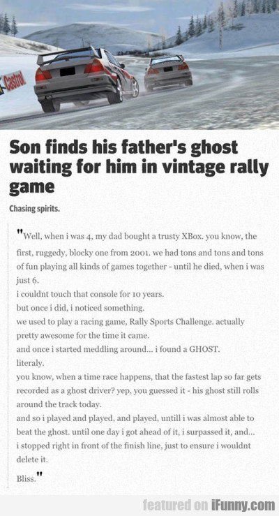 Son Finds His Fathers.
