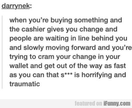 When You're Buying Something