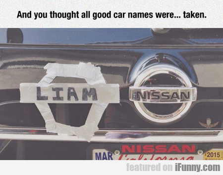 And You Thought All Car Names Were... Taken...