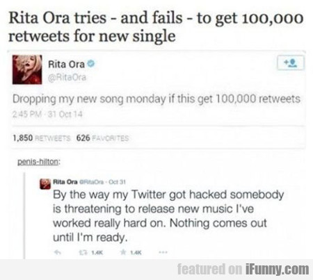 Rita Ora Tires And Fails To Get