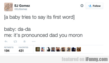 A Baby Tries To Say Its First Word.