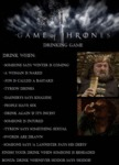 Game Of Thrones Drinking Game...