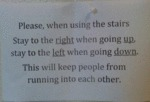 Please, When Using The Stair