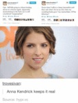 Anna Kendrick Keeps It Real