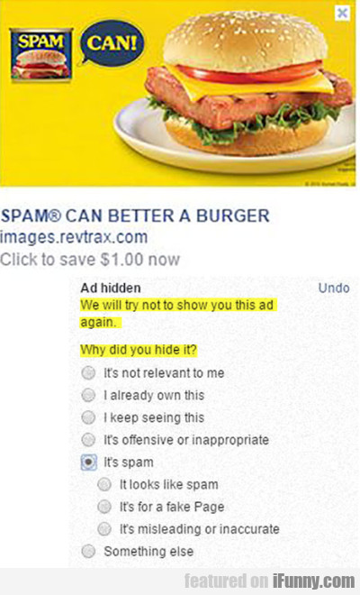 Spam Can Better A Burger.