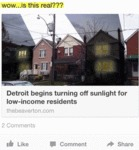 Detroit Begins Turning Off Sunlight.