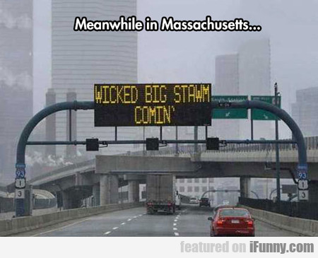 Meanwhile In Massachusetts...