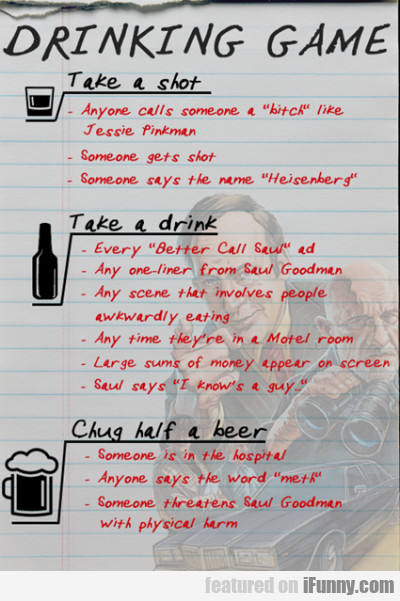 drinking game take a shot