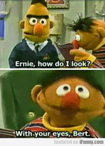 Ernie, How Do I Look...
