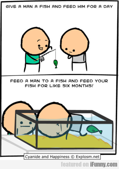 Give a man a fish and feed him for a day...