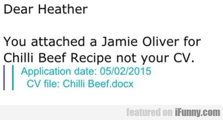 Dear Heather You Attached A Jamie Oliver